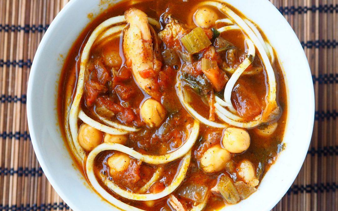 Sopa de garbanzos estilo marroquí