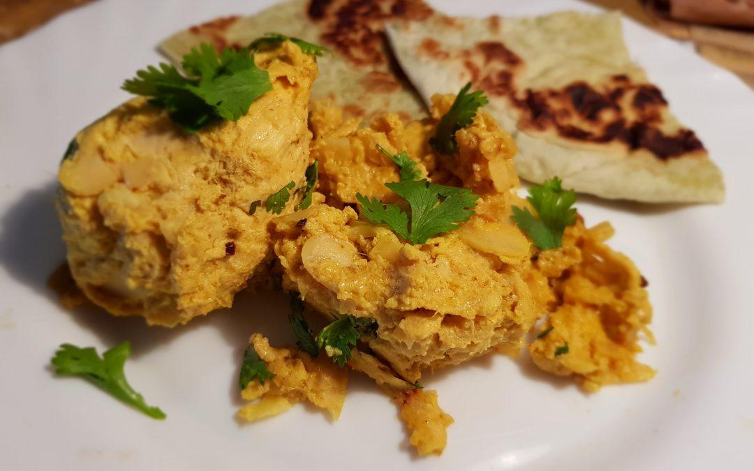 Passanda hindú de pollo con yogur
