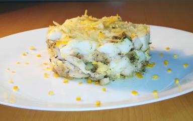 Pechuga de pollo en huevo y cítricos