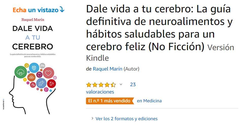 """""""Dale vida a tu cerebro"""": El más vendido en medicina."""
